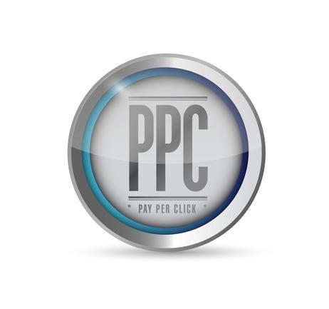 pay per click button illustration design